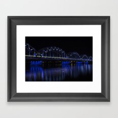 Railroad bridge Framed Art Print