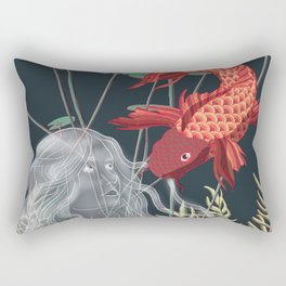 The Fish and the Water Nymph Rectangular Pillow