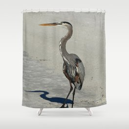 Living On A Beach Shower Curtain