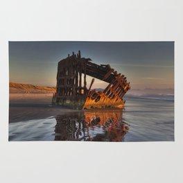 Shipwreck at Sunset Rug