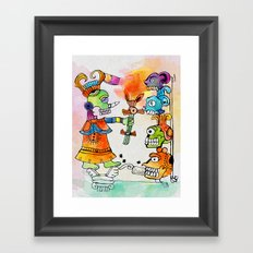 Witchdoctor, inspired by Frida Kahlo Framed Art Print