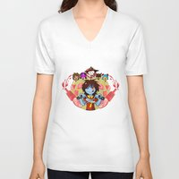 cooking V-neck T-shirts featuring Cooking Che by marvelousghost