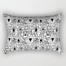 Chotic Angles in Black & White by Deirdre J Designs Rectangular Pillow