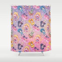 Chibis Crystal Pattern Shower Curtain
