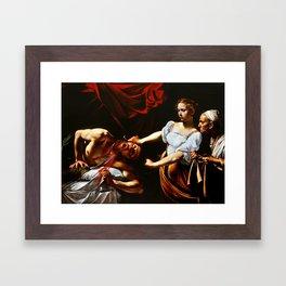 Caravaggio Judith Beheading Holofernes Framed Art Print