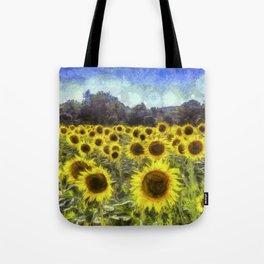 Sunflower Fields Of Dreams Art Tote Bag