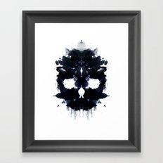 Rorschach skull dark Framed Art Print