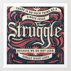 Audre Lorde Quote Art Print