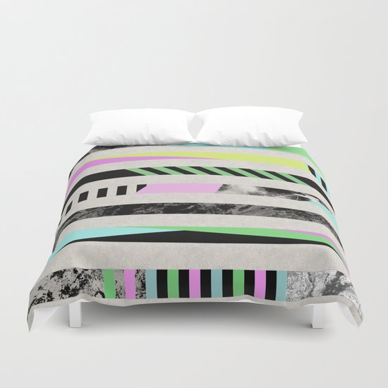 Crazy Lines - Pop Art, Geometric, Abstract Style Duvet Cover