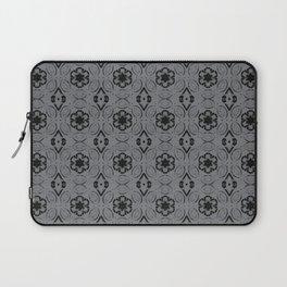 Sharkskin Floral Geometric Pattern Laptop Sleeve