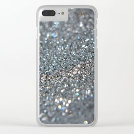 Silver Dust Clear iPhone Case