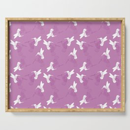 Humming Bird Pink Serving Tray