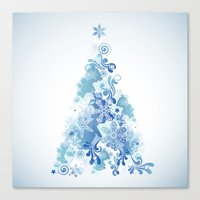 christmas tree Canvas Prints featuring Christmas Tree by MaNia Creations