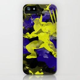 Wolver paint splash iPhone Case