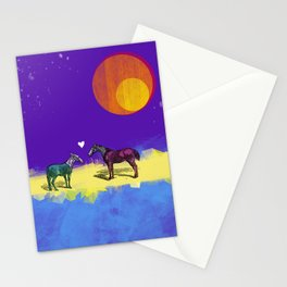 Heart and horses Stationery Cards