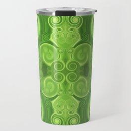 Pattern 37 - Green swirls Travel Mug