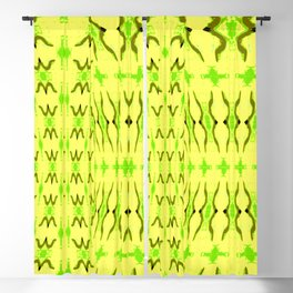Sand dune pattern yellow Blackout Curtain