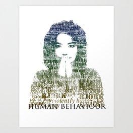 Bjork Human Behaviour  Art Print