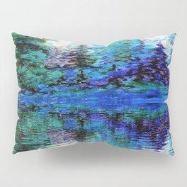 SCENIC BLUE MOUNTAIN PINES LAKE REFLECTION Pillow Sham