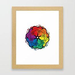 Pride Love Movement Framed Art Print
