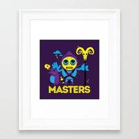 skeletor Framed Art Prints featuring SKELETOR by Maioriz Home