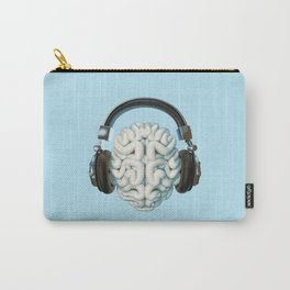 Mind Music Connection /3D render of human brain wearing headphones Carry-All Pouch