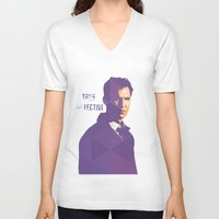 true detective V-neck T-shirts featuring TRUE DETECTIVE by Sunli