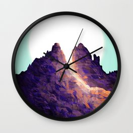 Leaf peak Wall Clock