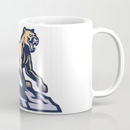 Cougar Mascot Standing Rock Coffee Mug