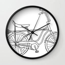 vintage witch bike Wall Clock