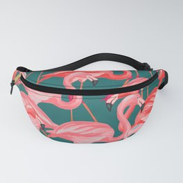 flamingo tropical Fanny Pack