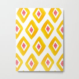 Yellow Illustration, Red and Yellow, Summer Viber, Home Decor, Bath Mat, iPhone Case Metal Print