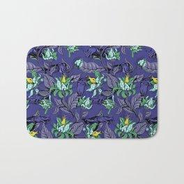 The Sea Garden - deep blue Bath Mat