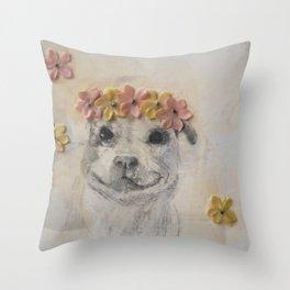 Pit Bull Princess Throw Pillow