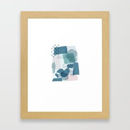 Stand Out And Be Your Own Pattern Framed Art Print