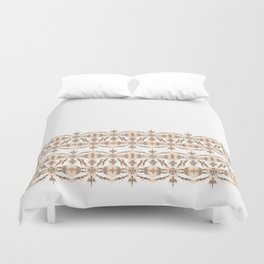 Kat Scratch Tribal Pattern • Peach & Taupe Duvet Cover