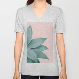 Agave Finesse #3 #tropical #decor #art #society6 Unisex V-Neck