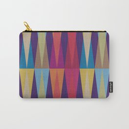 Party Argyle on Purple Carry-All Pouch