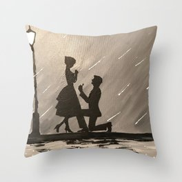 Midnight Proposal Throw Pillow