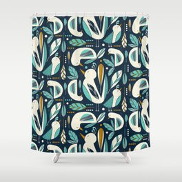 Feathered Flock Shower Curtain