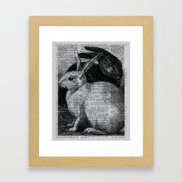 Dictionary Bunnies by Kathy Morton Stanion Framed Art Print