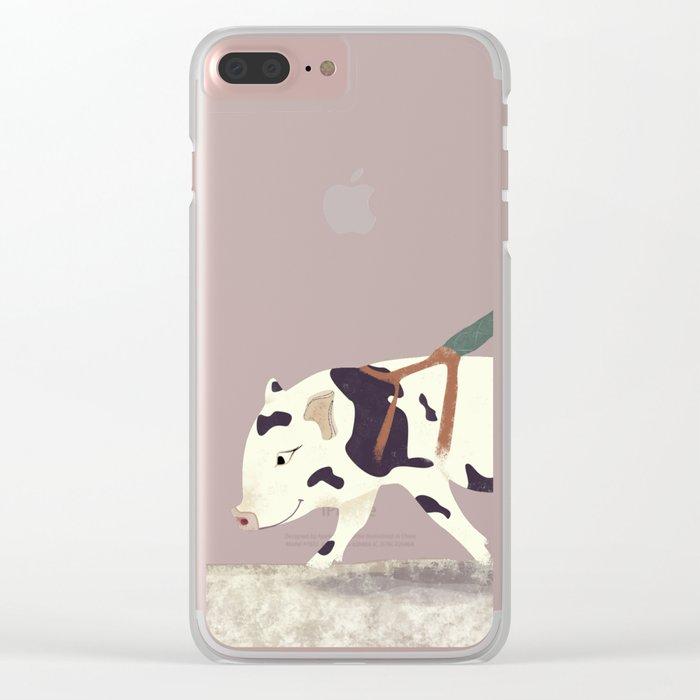 Baby Pig Original Design Clear iPhone Case