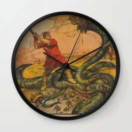 Vintage First World War Poster - Russia: The Resolute Brothers (1918) Wall Clock