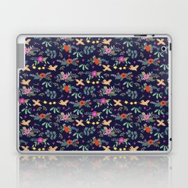 Cute vintage pattern with birds and flowers Laptop & iPad Skin