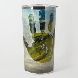 Hand Print Travel Mug
