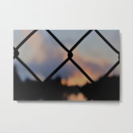 A Caged In World Metal Print
