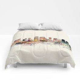 new orleans skyline Comforters