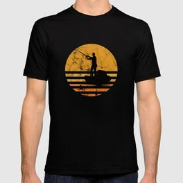 Distressed Vintage Fly Fishing Fisher Fisherman Sailor Fish Lovers Gift T-shirt