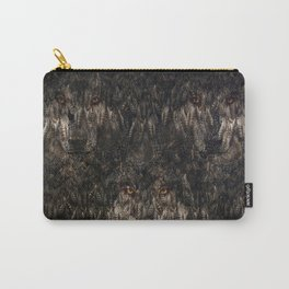 Tree wolf  (feather pattern) Carry-All Pouch