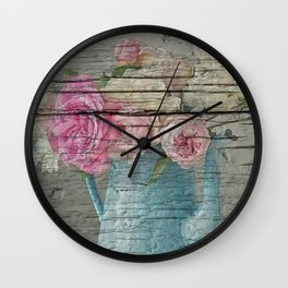 Shabby country home Wall Clock